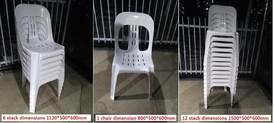 stable chairs dimensions